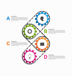 Abstract gears infographic design element vector
