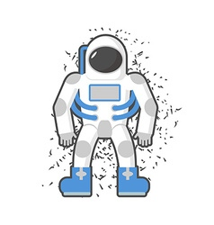 Astronaut on a white background Cosmic traveler vector image vector image
