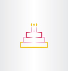 Birthday cake symbol icon design element vector