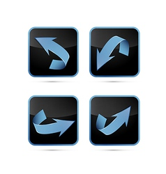 Black and Blue Abstract Arrows Set vector image vector image