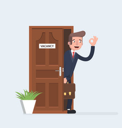 boss or manager invite staff to a meeting vector image vector image