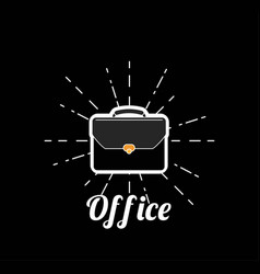 breifcase isolated business card vector image
