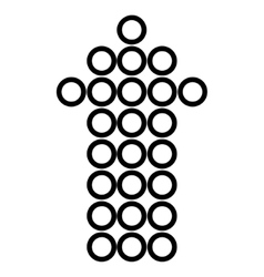 Circle arrow up stroke icon vector