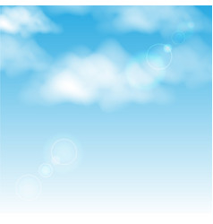 Clouds in the blue sky background vector