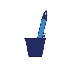 cup with writing tools icon vector image