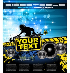 Disco Event Poster vector image