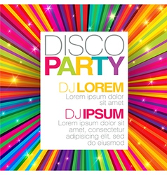 disco party template vector image vector image