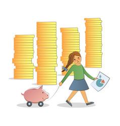 Financial literacy concept vector
