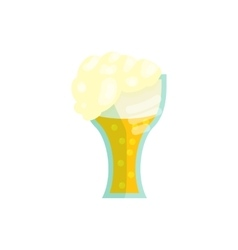 Glass of beer icon in cartoon style vector image vector image