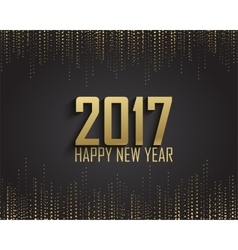 Greeting card invitation with happy New year 2017 vector image vector image