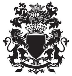 Heraldic silhouette no30 vector