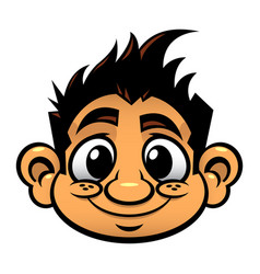 Kid cute face cartoon icon vector
