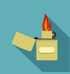 Lighter icon flat style vector