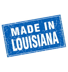 Louisiana blue square grunge made in stamp vector