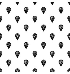 map pointer with phone handset pattern vector image