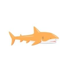 Marine predator shark design flat vector