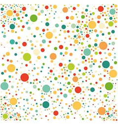 Multicolored spotted seamless pattern vector