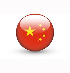 Round icon with national flag of China vector image