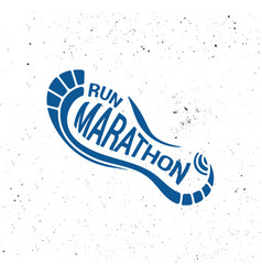 run icon running symbol marathon poster and logo vector image vector image