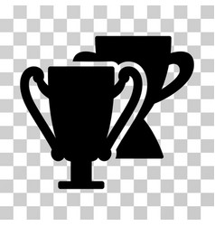 trophy cups icon vector image