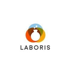 Lab logo flask logotype science education vector