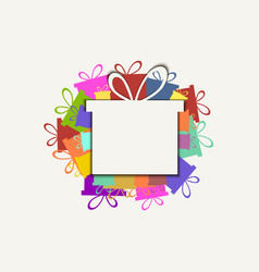 Gift box holiday background vector