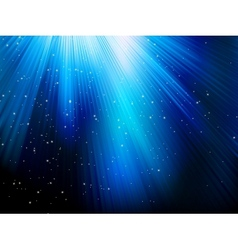 Stars on blue striped background eps 10 vector