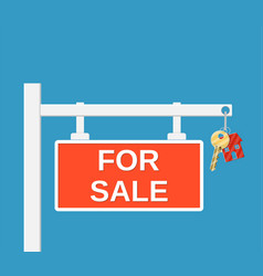 wooden placard for sale sign vector image