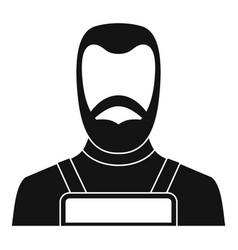 Blacksmith icon simple vector