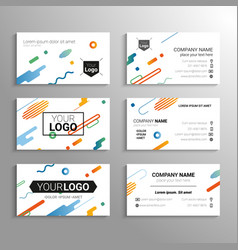 business cards - template abstract vector image