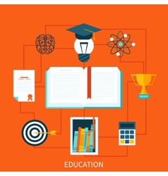 Consept of educational set tools vector