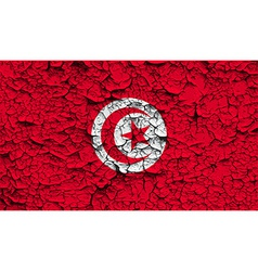 Flag of tunisia with old texture vector