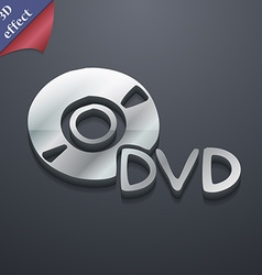 Dvd icon symbol 3d style trendy modern design with vector