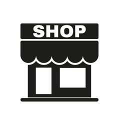 The shop icon store symbol flat vector