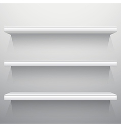 White background shelves vector