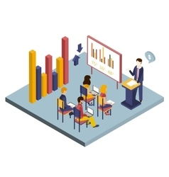 Presentation or meeting isometric vector