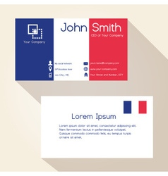 Simple france colors business card design eps10 vector