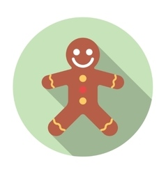 Gingerbread flat icon vector