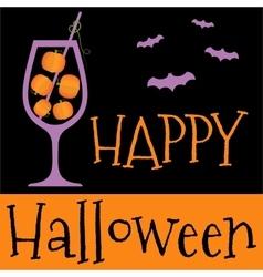 Happy halloween invitation or greeting card vector