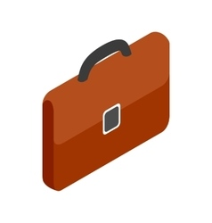 Brown business briefcase icon isometric 3d style vector