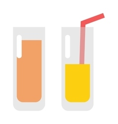 Glass of orange juice fresh drink beverage healthy vector