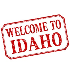 Idaho - welcome red vintage isolated label vector