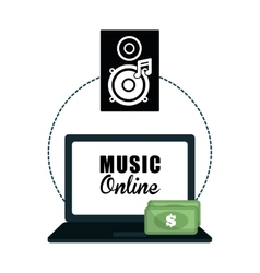Music design online icon isolated vector
