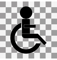 Wheelchair handicap icon on a transparent vector