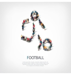 People sports football vector