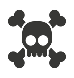 Alert skull isolated icon design vector