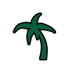 Palm tree icon nature and plant design vector
