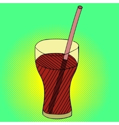 Drink pop art vector