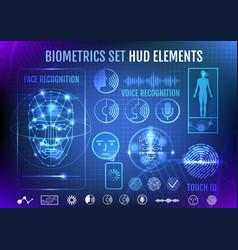 Biometrics set hud elements vector