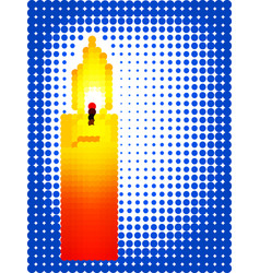 candle pixel icon vector image vector image